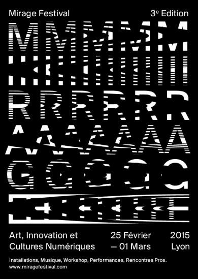 Identité visuelle du Mirage Festival par Cécile + Roger