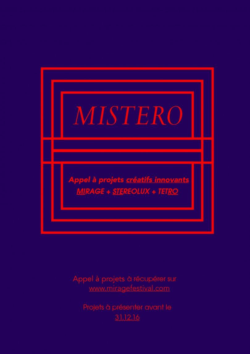 MISTERO – Appel à projets